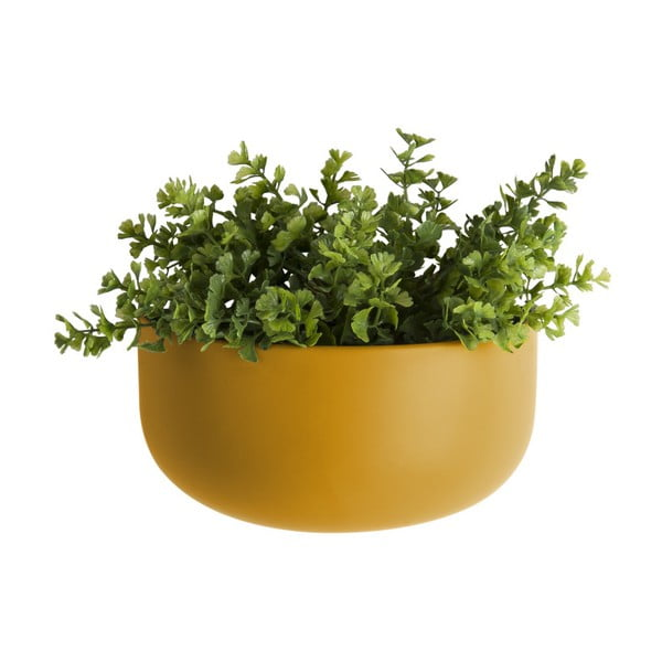 Matowa żółta ceramiczna doniczka wisząca PT LIVING Nest