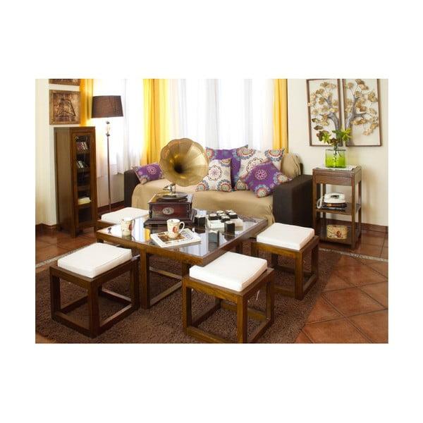 Venkovní stůl s 2 židlemi z teakového dřeva Santiago Pons Salvatore