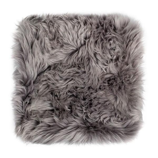Pernă scaun din blană de oaie Royal Dream, 40 x 40 cm, gri