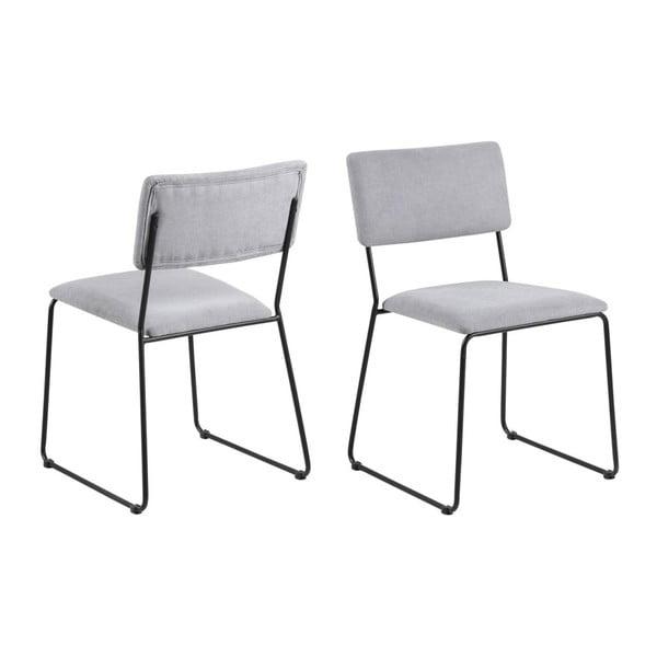Jasnoszare krzesło Actona Cornelia