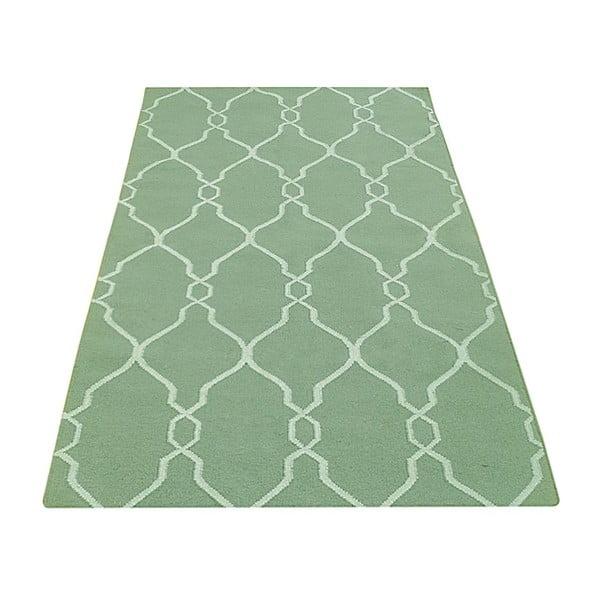 Ručně tkaný koberec Kilim JP 11058 Green, 90x150 cm