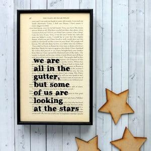 Plakát v dřevěném rámu Oscar Wilde Stars