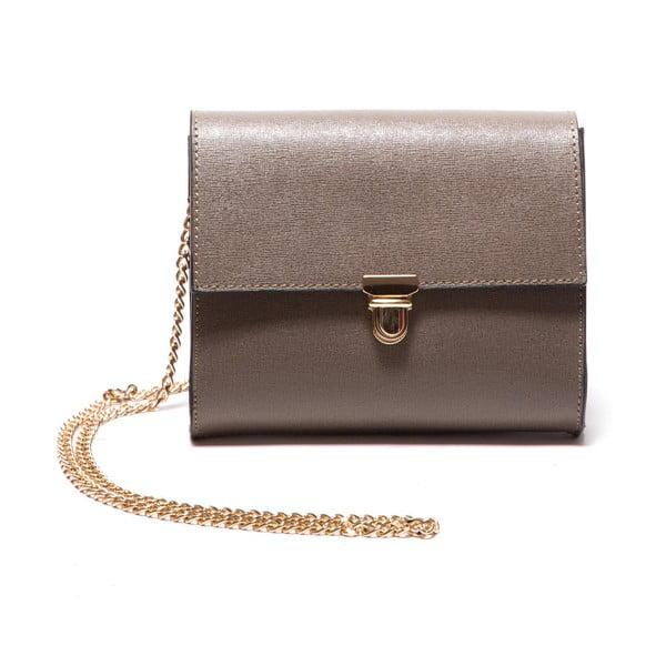 Hnědá kožená kabelka Roberta M Fango