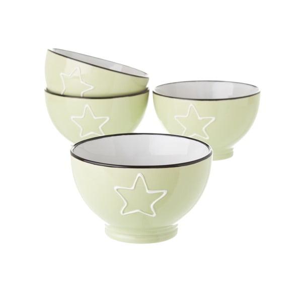 Zelená keramická miska Unimasa Star, 580 ml