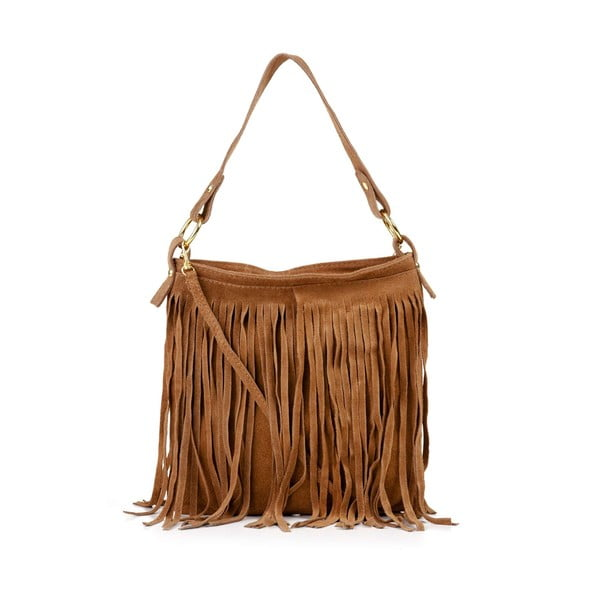 Kožená kabelka Frangia Camel