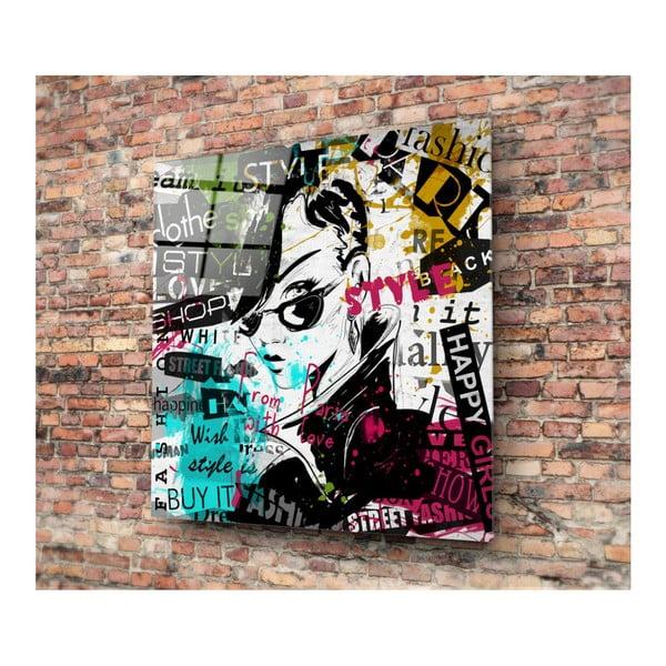 Sklenený obraz 3D Art Punker, 50×50 cm