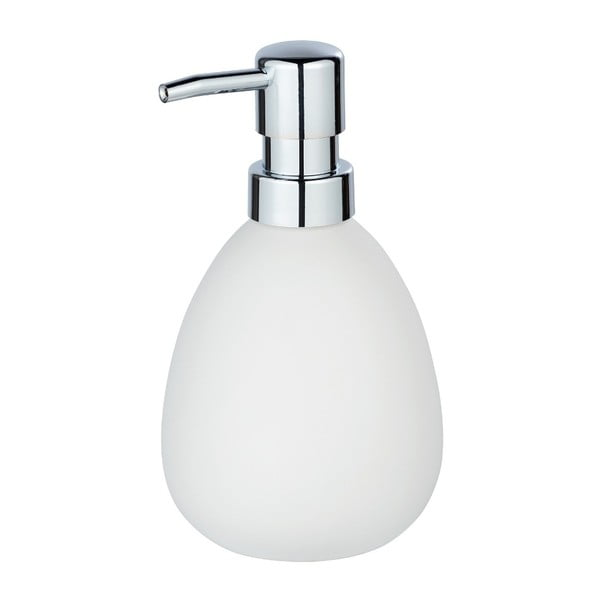 Matowy biały ceramiczny dozownik do mydła Wenko Polaris
