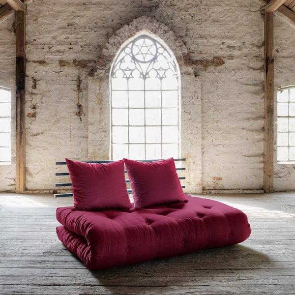 Canapea extensibilă Karup Shin Sano Black/Bordeaux