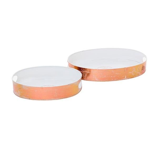 Sada 2 kovových táců Copper