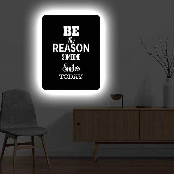 Nástěnná světelná dekorace Reason, 67 x 82 cm
