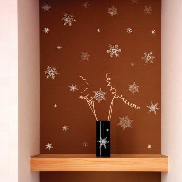 Sada 30 vianočných samolepiek Ambiance Christmas Silver Flakes
