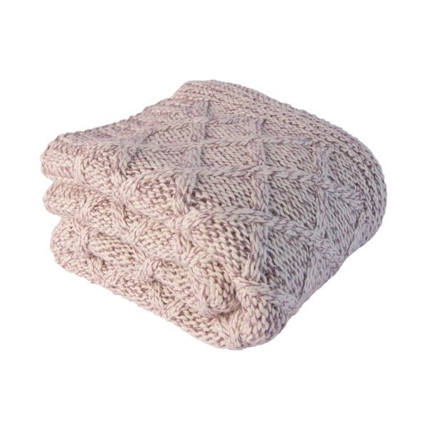 Pastelová deka s ovčí vlnou
