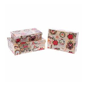 Sada 3 boxů InArt Christmas