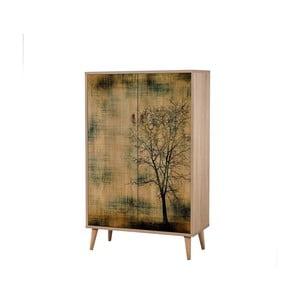 Dřevěná skříň Ananias Tree, výška 127cm