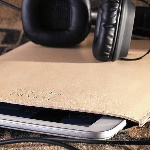 Kožený obal na tablet Samsung Galaxy 10.1 (Tab 3, 4 / Note) Cream