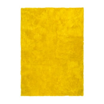 Covor Universal Nepal Liso Amarillo, 60 x 110 cm, galben de la Universal