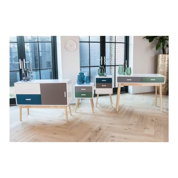 Odkládací stolek se 3 zásuvkami Leitmotiv Neat