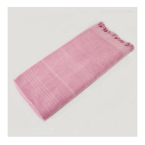Hammam osuška Beach Style Pink, 90x180 cm