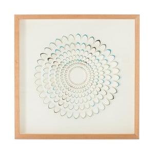 Ručně vyráběná nástěnná dekorace v rámu Vivorum Flower, 60x60cm