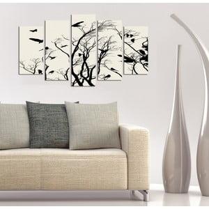 Pětidílný obraz Hejno, 110x60 cm
