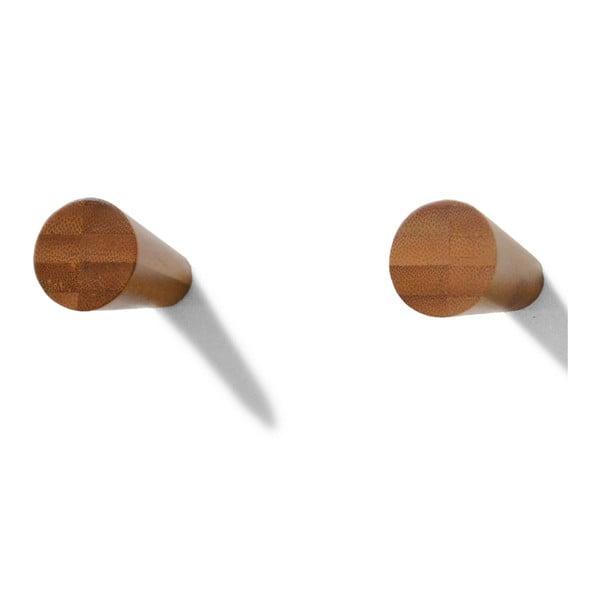 Držáky na ručníky 2 ks, bambus
