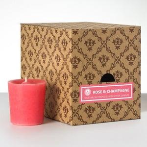 Sada 12 vonných svíček Rose and Champagne, 15 hodin hoření