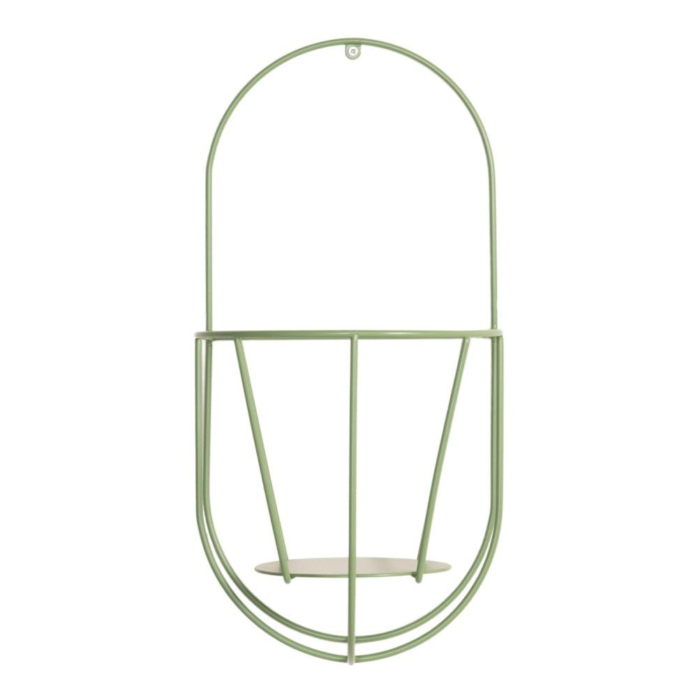Zelený nástěnný držák na květináče OK Design, výška 46 cm