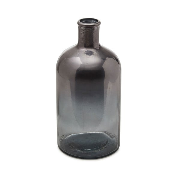 Sivá sklenená váza La Forma Witman, hĺbka 23 cm