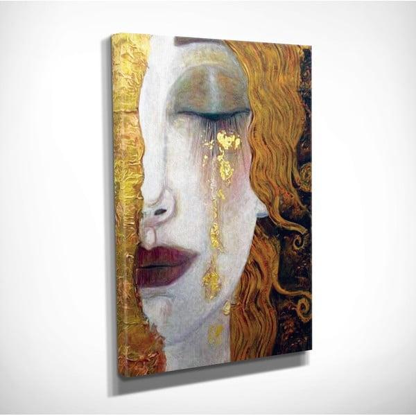 Nástenná reprodukcia na plátne Gustav Klimt Golden Tears, 30 × 40 cm