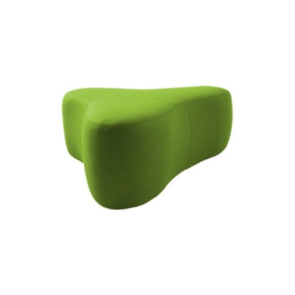Zelený puf Softline Chat Felt Melange Green, délka 90 cm