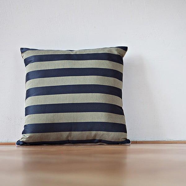Polštář s výplní Dark Blue Stripes, 50x50 cm