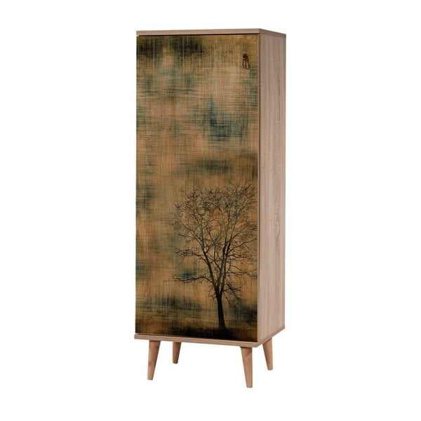 Drewniana szafka na buty Mirto Tree