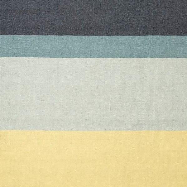 Vlněný koberec Lux Yellow, 80x150 cm