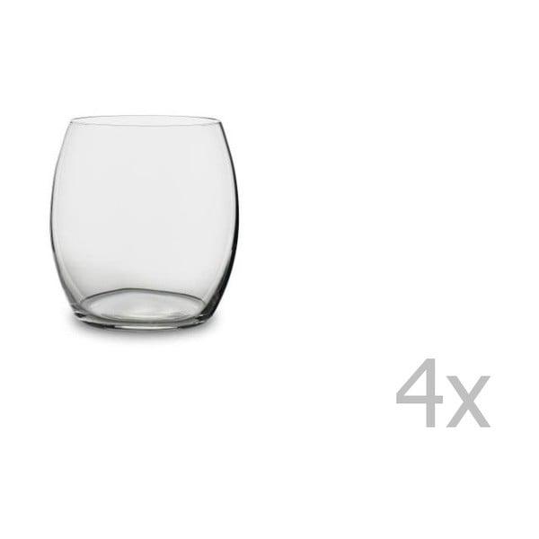 Sada 4 pohárov na vodu z krištáľového skla Bitz Fluidum, 530 ml