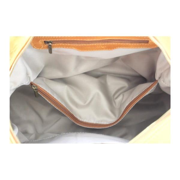 Hořčicová kožená kabelka Jenny