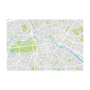 Tablou Homemania Maps Berlin, 70 x 100 cm