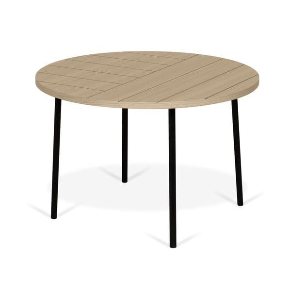 Ply dohányzóasztal tölgyfa dekorlappal, ø 70 cm - TemaHome