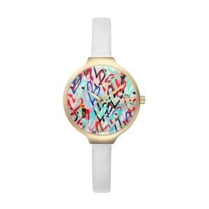 Dámské bílé hodinky s koženým řemínkem Rumbatime Orchard Love