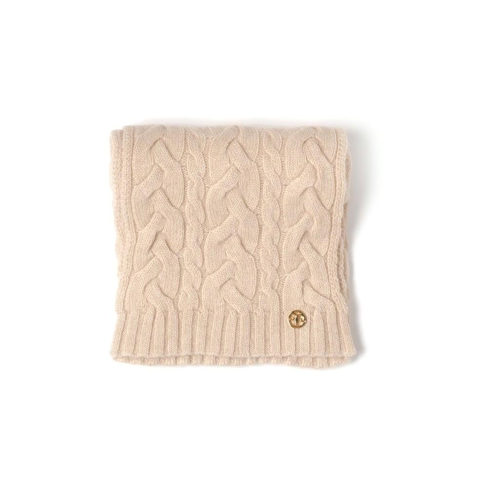 9579fddc5e9 Béžová pletená kašmírová šála Bel cashmere Brad