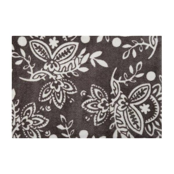 Rohožka Floral, grey/white, 66x90 cm