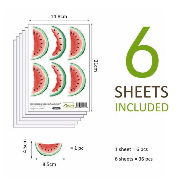Sada 36 samolepek WALPLUS Watermelon
