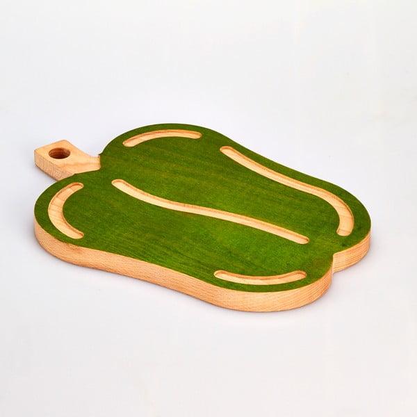 Deska do krojenia z drewna bukowego Bisetti Pepper, 23,5x33 cm