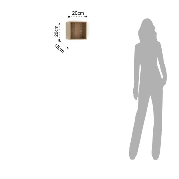 Dřevěná polička Tomasucci Billa, 20x15x20cm