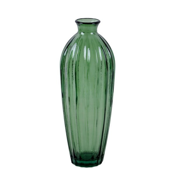 Zelená váza z recyklovaného skla Ego Dekor Etnico, výška 28 cm
