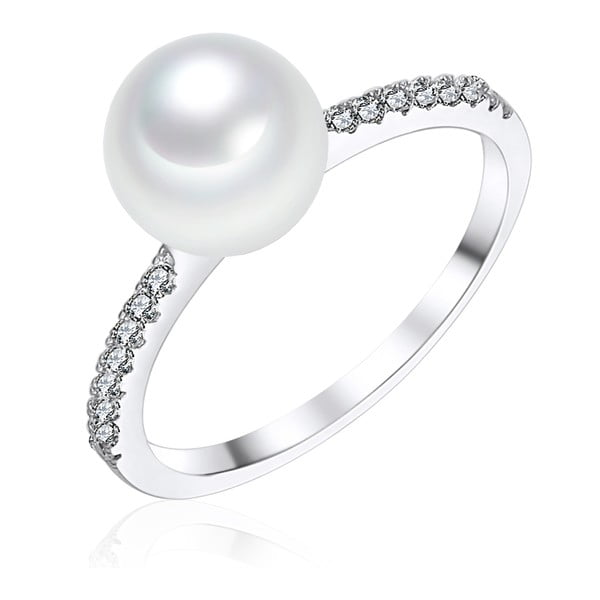 Perlový prsten Pearls Of London South Sea White, 1,3 cm