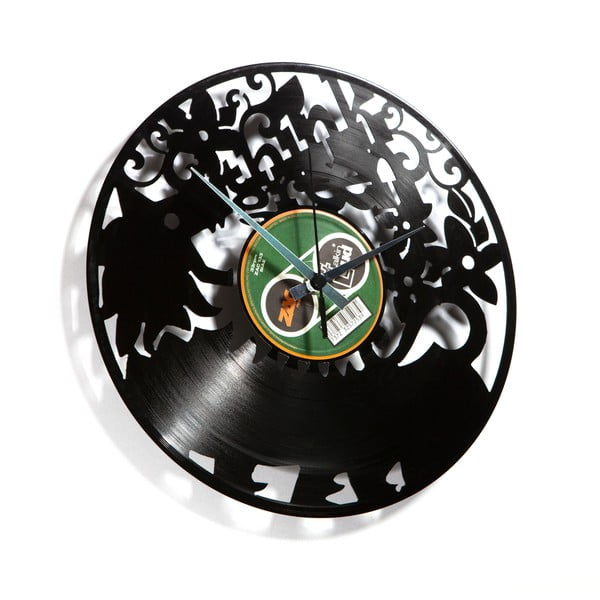 Vinylové hodiny Think Green