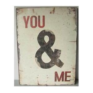 Plechová cedule You&Me 26x35 cm