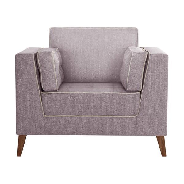 Różowy fotel z detalami w kremowej barwie Stella Cadente Maison Atalaia Powder Rose