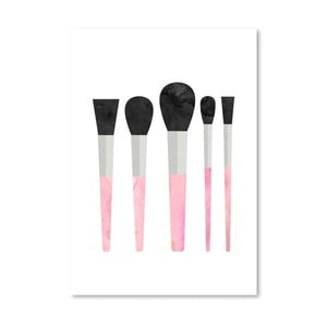 Poster Americanflat  Pink Brushes, 30 x 42 cm