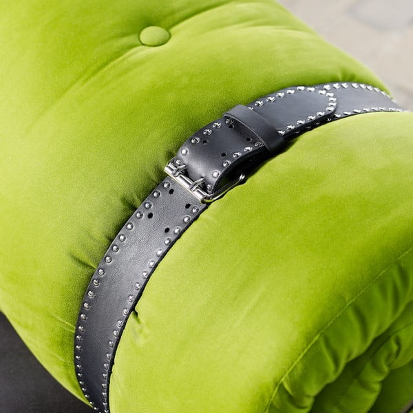Fotoliu extensibil Karup Buckle Up Black/Lime